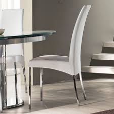 White Leather Dining Chairs Canada Dining Rooms Impressive Modern White Faux Leather Dining Chairs