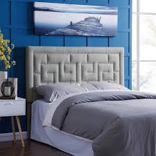 Linen Upholstered King Headboard Handy Living Davinci King California King Grey Linen Upholstered