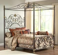 Wrought Iron Canopy Bed Wrought Iron Canopy Bed King Frame Size Kattenbroek Info