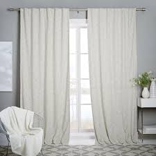 textured weave curtain blackout lining ivory west elm uk