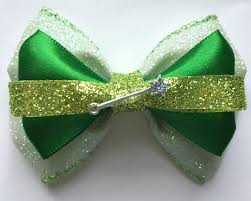 tinkerbell ribbon tinkerbell bow tink hair bow disney hair accessory tink