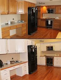 painting cabinets white before and after before and after pictures of oak cabinets painted white home painting