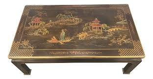 Asian Coffee Tables by Henredon Asian Chinoiserie Inlaid Coffee Table Chairish