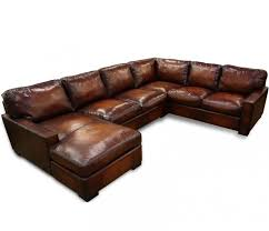 Distressed Leather Sleeper Sofa Napa Oversized Leather Sectional Leatherfurnitureexpo Com