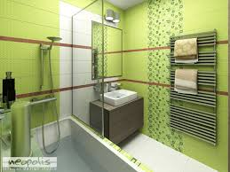 bright green color for modern bathroom decorating only then