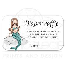 raffle baby shower mermaid baby shower raffle ticket storybook style