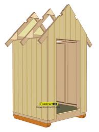 Outdoor Wood Shed Plans by Small Garden Shed Plans 4 U0027x4 U0027 Gable Shed Construct101