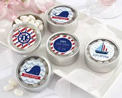 candy containers for favors personalized candy tin nautical birthday party favor