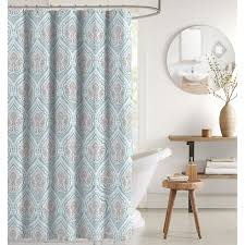Teal And Brown Shower Curtain Laura 13 Piece Shower Curtain Mineral At Home At Home