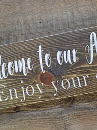 airbnb sign welcome sign vacation home signs home signs airbnb