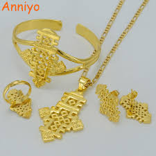 aliexpress cross necklace images Anniyo ethiopian cross jewelry pendant necklace earrings bangle jpg