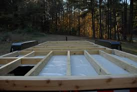 Diy Hard Floor Camper Trailer Plans Framing The Floor U2013 The Tiny Life