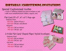 Flat Invitation Cards Renz Creations Invitations And Giveaways Prices Invitation Cards