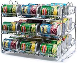 Kitchen Cabinet Racks Storage Amazon Com Stackable Can Rack Organizer Storage For 36 Cans