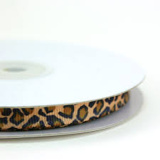 leopard ribbon maple craft small leopard print grosgrain ribbons 3 8 spool of