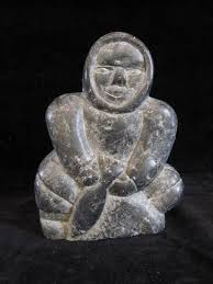 eskimo soapstone carvings vintage inuit soapstone carving depicting an inuit catching a fish