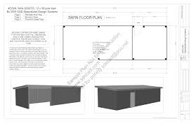 stylish and peaceful 1 pole building plans free download free