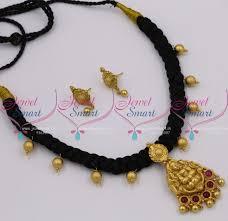 ethnic necklace design images Nl10062 temple design bead drops thread jada necklace latest JPG