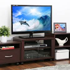 tv stand glass doors furinno indo tier petite espresso tv stand with double glass doors