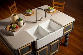 Kitchen Island Sink Ideas by Decorating Cozy Apron Front Sink For Traditional Kitchen Decor
