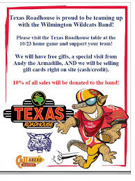 gift card fundraiser support the whs marching band by purchasing roadhouse gift