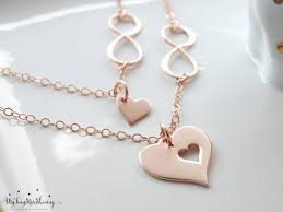 necklace for mothers necklace gold infinity heart necklace