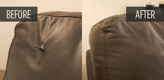 how to fix cut in leather sofa furniture repair before and after pictures guardsman