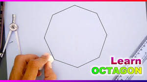 learn to draw octagon with compass and ruler youtube