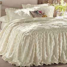 Sham For Bed Angelica Ruffle Chenille Bedspread And Sham From Country Door