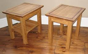 Oak Side Table Solid Oak Side Tables With Inlay Reuben Kyte
