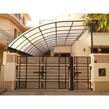 house car parking design curved type car parking shed at rs 200 square feet car sheds