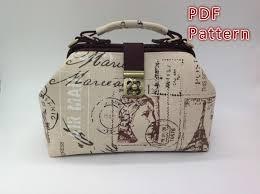 pdf sewing pattern doctor bag pattern doctor frame bag pattern