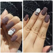 square round shaped nails with 3d flower additional 15 for a