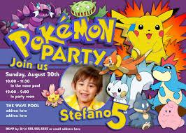Create An Invitation Card Free Pokemon Party Invitations Theruntime Com