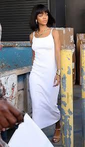 best 25 rihanna white dress ideas on pinterest rhianna fashion