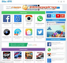 templates for blogger for software blue apk software style blogger template free download