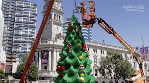 lego christmas tree timelapse auckland council youtube