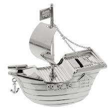 silver plated baby gifts baby silver plated pirate ship money box baby boy christening