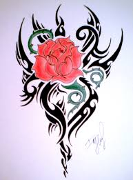 Tribal Tattoos With Roses - tribal and flower designs free clip