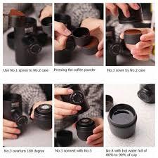 cravog mini manual coffee maker hand pressure portable espresso