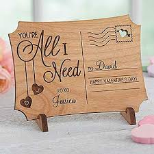 personalized postcards wooden postcard your e all i need