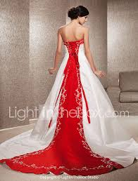 a line princess strapless cathedral train satin wedding dress with