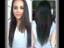 v cut layered hair how to cut your hair at home v shape long layers youtube