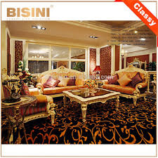 Luxury Wooden Sofa Set Luxury French Rococo Solid Wood Carving Fabric Sofa Set Luxury