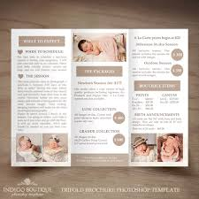 price list brochure template photography trifold brochure template