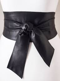 black sash black sash belt leather obi belt slant tie corset belt waist