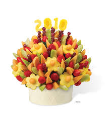 edible numbers sweeten the season with festive bouquets of fruit from