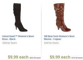 womens boots sears sears boot sale low as 3 99 90 and free shipping a