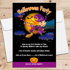 10 personalised spooky witch halloween party invitations n12 the