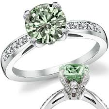 engagement rings green images Green pave engagement ring fine moissanite jpg